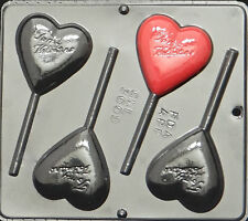 To My Valentine Heart Lollipop Chocolate Candy Mold Valentine 3009 NEW