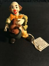 "Anri Toriart Magician With Rabbit Clown 4"" Figurine Italy"
