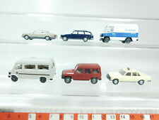 BH85-0,5# 6x Wiking H0/1:87 Modell Mercedes/MB: 240+250+500+Wohnmobil etc, s.g.