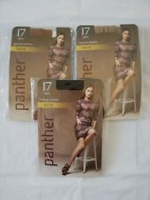LOT DE 3 PAIRES DE COLLANT FEMME PANTHER 17 DEN TAILLE 4 COULEUR NOIR + CHAIR