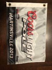 Jimmy Johnson 2013 Martinsville Coors Light Pole Award Flag Monster Energy JGR