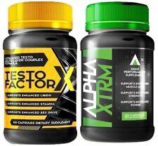 Testo Factor X w/Alpha XTRM - Lean Muscle, Enhanced Stamina - 120 ct