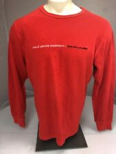 Polo Jeans Ralph Lauren LS Burnt Orange Thermal stitched spellout shirt XL USA