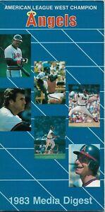 1983 CALIFORNIA ANGELS MLB MEDIA GUIDE VINTAGE FREE SHIPPING REGGIE JACKSON