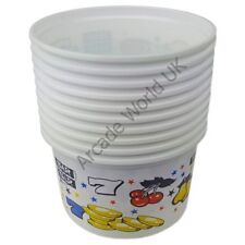 Arcade Coin/Party Cups – 300cc (Small) Bars & 7's Design - Pack of 10