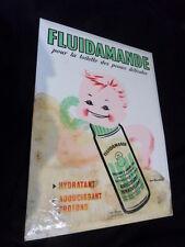 Vintage advertising plaque glacoide Pub FLUIDAMANDE produit bébé by J Rousseau