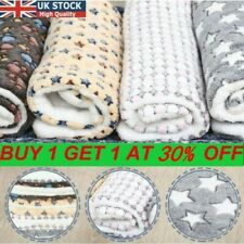 More details for uk-pet mat paw print cat dog puppy fleece soft warm blanket bed cushion mattress