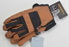 NWT MENS QUIKSILVER WILDCAT LEATHER GLOVES $80 L brown black