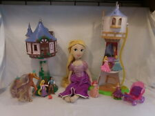 Disney Tangled 2 Towers Rapunzel Castle Playset Flynn + Plush + Accessories Lot