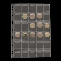 10 Sheet 30 Pockets Plastic Coin Holders Storage Collection Money Album Case QP