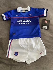 Nike Vintage Retro Glasgow Rangers 1997 Infants kits 18 - 24 months