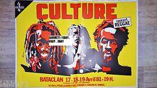 CULTURE REGGAE  ! rare affiche musique concert rock jazz vintage rasta