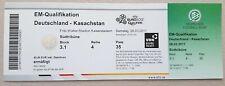 Los coleccionistas used ticket UEFA Euro 2012 qualifiers alemania-kazajstán Mint!!!