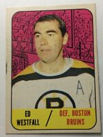 1967-68 Topps #95 ED WESTFALL **EX+ CONDITION **NO CREASES ** NO WRINKLES**