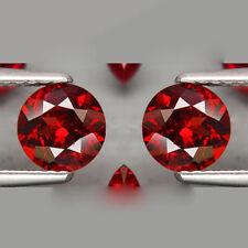 2.80Cts Natural Extreme Sparkle Cherry RED RHODOLITE GARNET - 7.0mm Rd 2pcs QV50