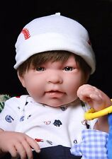 "Baby Boy Real Reborn Doll Clothing Berenguer 17"" inches Soft Vinyl Life Like"