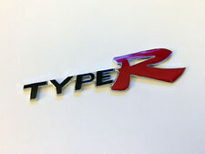 NEW Black Type R Honda JDM Racing 3D Emblem Decal Trunk Metal Badge Sticker Red
