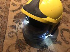 MSA Gallet Fire Helmet + Integrated Lamp F1XF Yellow Size Medium