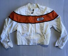 Harley Davidson Racing Women's Off White Quilted Motorcycle Jacke  Without Tags
