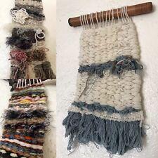 Set of 3 HandLoomed Wall Hangings Textile Art New Age Shabby Chic Retro Handmade
