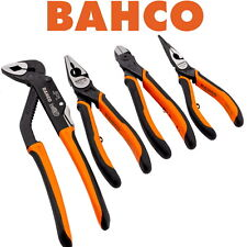 BAHCO 4 Piece Pliers Set Water Pump,Combination,Snipe Long Nose,Side Cutter 9897