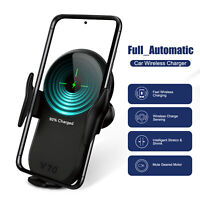 For LG V60 ThinQ QI Wireless Fast Charger Car Mount Holder Stand Auto Clamping
