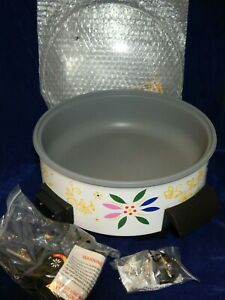 """Temp-tations Electric 12"""" Skillet New In Box Colorful Confetti Pattern Deep Dish"""