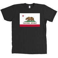 California State Flag T Shirt Cali Republic CA NEW WITH TAGS - MANY COLORS