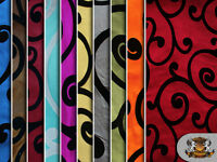 "Taffeta Flocking Swirl Fabrics / 58"" Wide / sold by the yard"