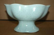 VINTAGE BRUSH McCOY POTTERY BLUE SPECKLED POT PLANTER PEDESTAL DISH USA