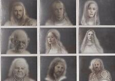 "Lord of the Rings Masterpieces II - ""Silver Parallel"" Set of 9 Chase Cards #1-9"