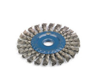 Stainless Steel Twisted Knot Radial Wire Brush Wheels. 115mm & 125mm.