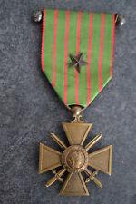 EX7) Médaille militaire croix de la guerre 14 18 avec barre French medal item