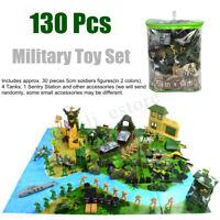 130Pcs Military Model Set Castle Soldier Army Men Action Figures Children  go