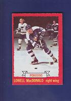 Lowell MacDonald 1973-74 O-PEE-CHEE OPC Hockey #128 (EXMT) Pittsburgh Penguins