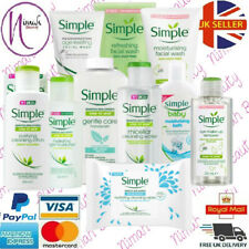 Simple Skin care products Wipes,Face Wash,moisturisers,Lotions,Toner and more!