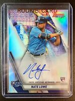 2019 Bowman's Best NATE LOWE Autograph Rookie Refractor #B19-NL Tampa Bay Rays
