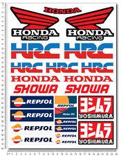 Honda Racing aufkleber set 24x32cm 23 sticker repsol cbr 600 1000 HRC yoshimura