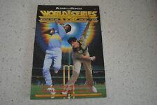 AUSTRALIA VS INDIA VS NEW ZEALAND RARE 1985/86 OFFICIAL CRICKET MAGAZINE!