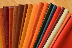 Leder Lederzuschnitt Reststücke keine Lederreste, 2er-Set DIN-A4, diverse Farben
