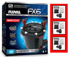 FLUVAL FX6 CANISTER FILTER KIT A219. AUTHORIZED SELLER W/ EXTRA MEDIA