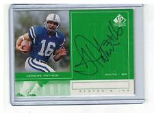 1998 SP AUTHENTIC JEROME PATHON ROOKIE ON-CARD AUTO INDY COLTS