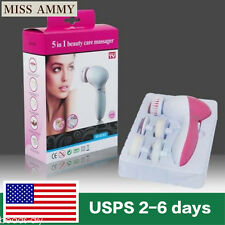 Deep Clean 5 In 1 Electric Facial Cleaner Body Skin Care Brush Massager Scrubber