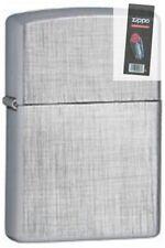 Zippo 28181 linen weave Lighter + FLINT PACK