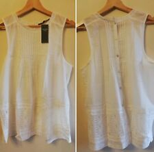 womens Abercrombie & fitch white top buttoned back white top sizeM £44 #35