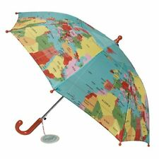Rex London CHILDRENS UMBRELLA VINTAGE WORLD MAP. KIDS GIRLS BOYS BROLLY