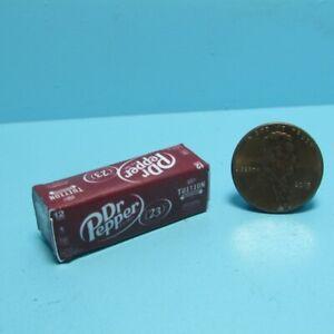 Dollhouse Miniature Replica Dr Pepper Soda Box / Case