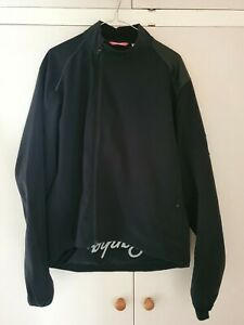 Rapha Mens Classic Winter Jacket Black Size Extra Large XL Small Rip on Base