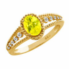 Topaz Solitaire Yellow Gold 1.00 - 1.24 Fine Gemstone Rings