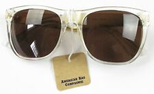 Super Basic Crystal Gold Metal Sunglasses Brand New Retail $191